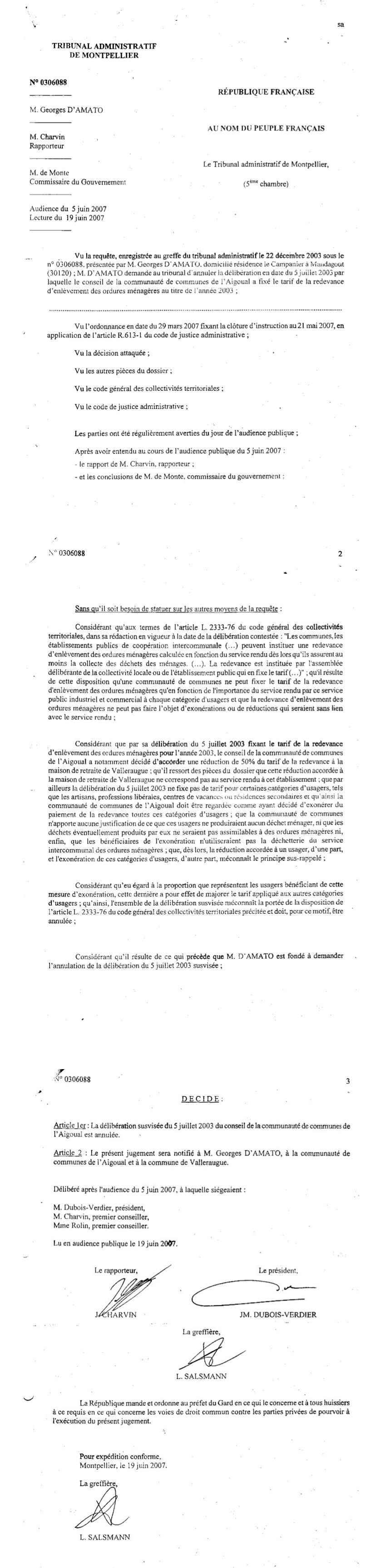Association De Defense Des Habitants Contribuables De L Aigoual Index
